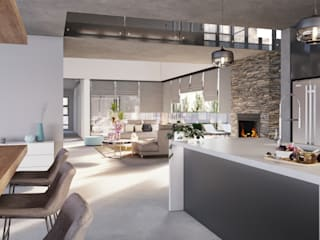 Modern Family Residence, Johannesburg TOP CENTRE PROPERTIES GROUP (PTY) LTD Modern kitchen