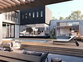 Modern Family Residence, Johannesburg TOP CENTRE PROPERTIES GROUP (PTY) LTD Modern Garden