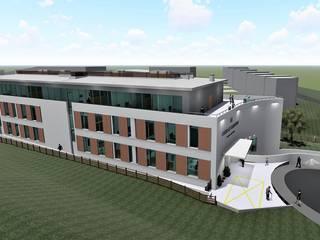 Residência para Idosos Paredes e pisos modernos por Screenproject Consulting Engineers, Lda Moderno