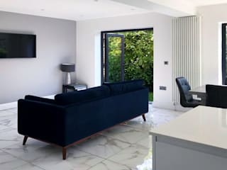 Extension Malone Belfast Modern living room by Jim Morrison Architects Modern