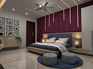Design & Creations Small bedroom Purple/Violet