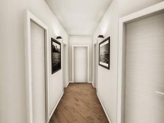 Progettazione in realtà virtuale e ristrutturazione completa - Appartamento Torino NNBuilding Ingresso, Corridoio & Scale in stile classico