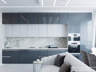 Кухня гостиная в ЖК Ньютон Студия дизайна Натали Гостиная в стиле модерн