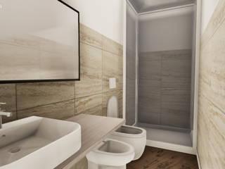 Progettazione in realtà virtuale e ristrutturazione completa - Appartamento Torino NNBuilding Bagno in stile classico