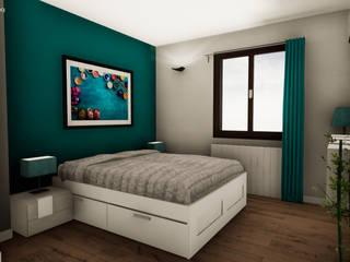 Progettazione in realtà virtuale e ristrutturazione completa - Appartamento Torino NNBuilding Camera da letto in stile classico