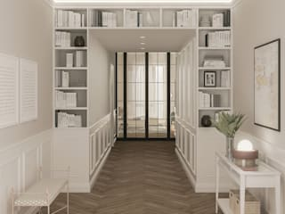 Colonial style corridor, hallway& stairs by Bongio Valentina Colonial