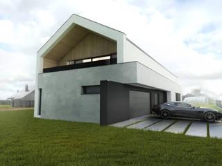 Budownictwo i Architektura Marcin Sieradzki - BIAMS Окремий будинок Бетон Сірий