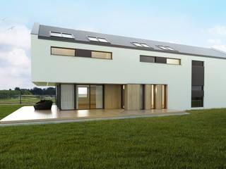 Budownictwo i Architektura Marcin Sieradzki - BIAMS Modern style balcony, porch & terrace Wood Brown