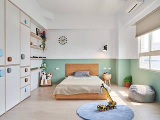 日光小屋諧奏曲 防水百葉簾.遮光蜂巢簾 空間構成:HAO Design 好室設計 MSBT 幔室布緹 Modern Kid's Room Wood Wood effect