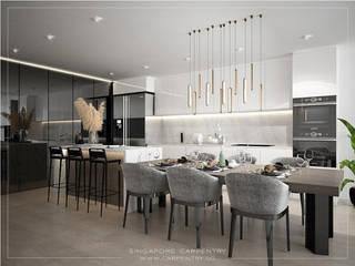 Salas de jantar modernas por Singapore Carpentry Interior Design Pte Ltd Moderno