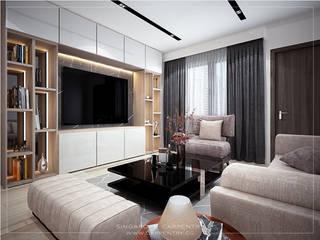 Salas de estar modernas por Singapore Carpentry Interior Design Pte Ltd Moderno