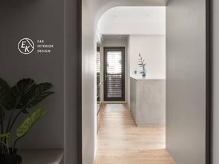 Residence | Hsinchu 仁發富悅 杜公館 斯堪的納維亞風格的走廊,走廊和樓梯 根據 E&K宜客設計 北歐風