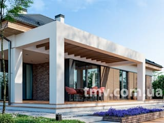 Современный одноэтажный дом без гаража TMV 118 от TMV Architecture company