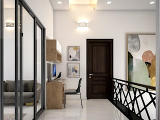 Monnaie Interiors Pvt Ltd Corridor, hallway & stairsAccessories & decoration Engineered Wood Wood effect
