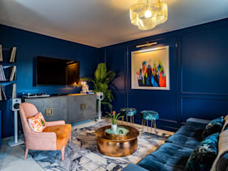 Decorbuddi Eclectic style media room Blue