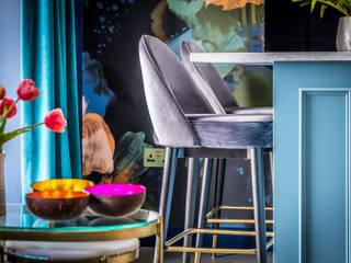 Decorbuddi Modern media room Blue