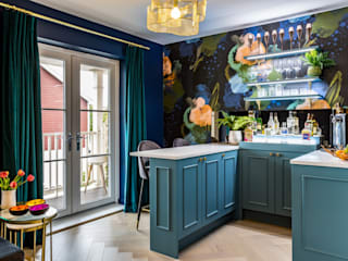 Decorbuddi Modern living room Blue