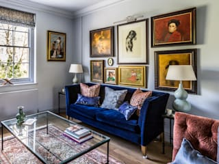Decorbuddi Classic style living room Blue