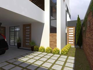 Casa Marín Arqternativa Jardines modernos Gris