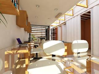 Constructoría Oficinas Centrales Arqternativa Estudios y despachos modernos Blanco