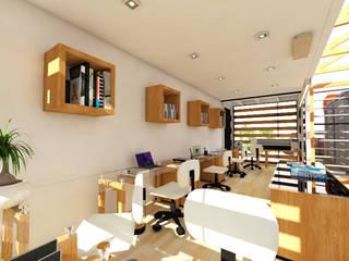 Constructoría Oficinas Centrales Arqternativa Estudios y despachos modernos Derivados de madera Blanco