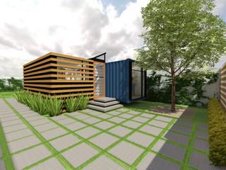 Constructoría Oficinas Centrales Arqternativa Casas modernas Metal Azul