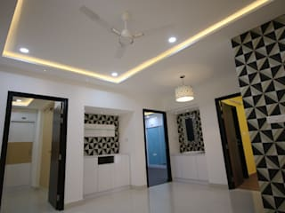 3BHK Vajra Jasmine County | Interior Design Project in Hyderabad Modern dining room by Enrich Interiors & Decors Modern