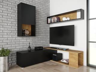 Meble Minio SalonesMuebles de televisión y dispositivos electrónicos Aglomerado Acabado en madera