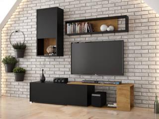 Meble Minio Sala multimediaElectrónica Aglomerado Acabado en madera