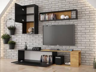 Meble Minio Sala multimediaMuebles Aglomerado Acabado en madera