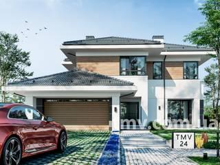 Стильный двухэтажный коттедж с террасой TMV 24 от TMV Architecture company