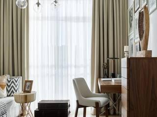 Кабинет для девушки Рабочий кабинет в эклектичном стиле от ELENA SKUTOVA Эклектичный