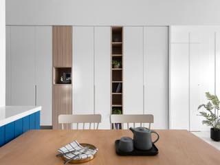 知域設計 Scandinavian style dining room White