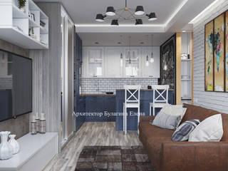 Salas de estilo industrial de Архитектурное Бюро 'Капитель' Industrial