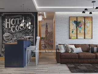 Архитектурное Бюро 'Капитель' Living room Brown