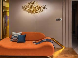 Adarsh CLassic - Mumbai (c.a 2000 sq.ft) Hinge architects Modern living room
