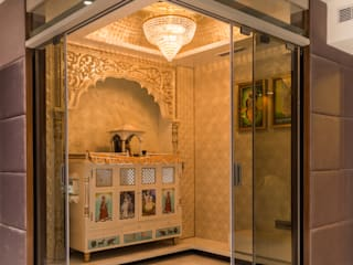 Adarsh CLassic - Mumbai (c.a 2000 sq.ft) Hinge architects Classic style living room