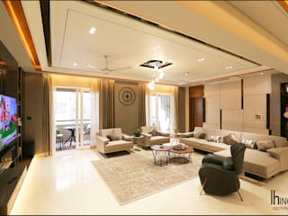 Altius III - Ahmedabad (c.a 2000 sq.ft) Hinge architects Modern living room