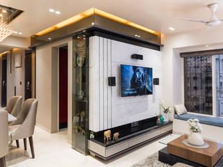 Dosti Acres - Mumbai (c.a 1000 sq.ft) Hinge architects Modern living room
