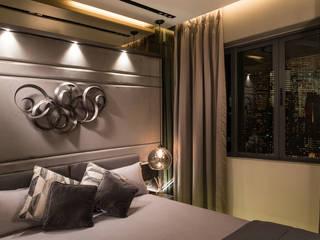 Dosti Acres - Mumbai (c.a 1000 sq.ft) Hinge architects Modern style bedroom