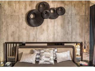 Jaswanti Gold - Mumbai. (c.a 900 sq.ft) Hinge architects Modern style bedroom