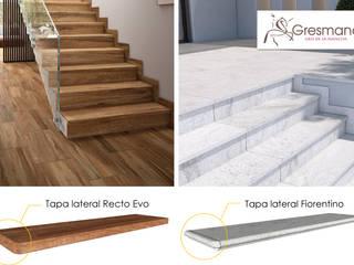 Gresmanc Escaleras Cerámico Acabado en madera