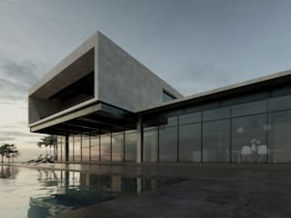 ConstruTech & Technology BIM Rumah tinggal Beton Beige