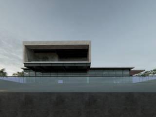 ConstruTech & Technology BIM Rumah Modern Beton Beige