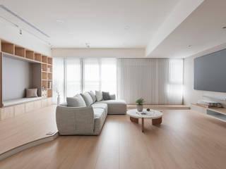 스칸디나비아 거실 by 寓子設計 북유럽