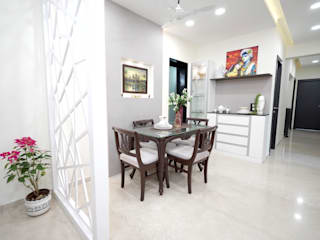 Kalpataru hills, Mumbai HomeLane.com Modern dining room