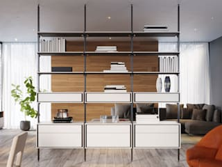 ITALIANELEMENTS Living roomShelves MDF White
