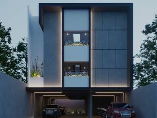 Matraman Boarding House DiArsitekin Ruang Komersial Modern Beton Black