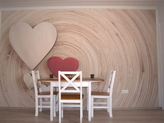wohnausstatter Scandinavian style dining room Wood Beige