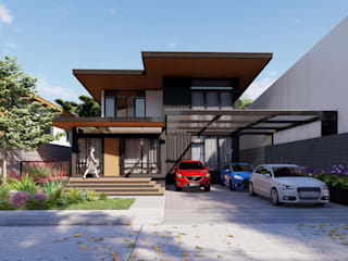 Structura Architects Rumah Modern Beton Black